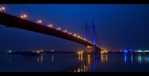 Vidyasagar Setu in Kolkata the longest cable-stayed bridge of India