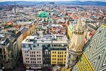 Vienna Austria from the top of the cathedral
