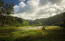 View at the base of Pololu Valley - Big Island HI