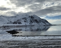 View from a bakery in Borgarnes Iceland