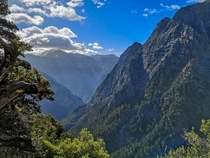 View from a section in the Samaria Gorge GreecexOC