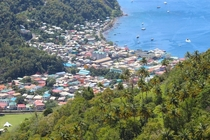 View from above Soufrire St Lucia
