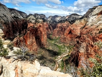 View from Angels Landing  Zion National Park