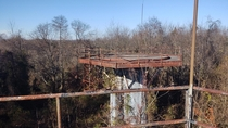 View from atop a radar tower within Nike Missile Site PH-