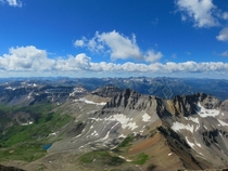 View from atop Mt Sneffels Co