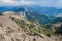 View from atop Sacagawea Peak Montana  x