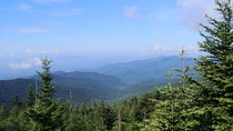 View from Clingmans Dome Smokey Mountain National Park NC