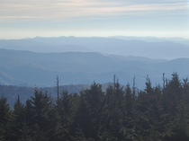 View from Clingmans Dome Smoky Mountain National Park