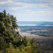 View from Eastern Bluff - Devils Lake Park in Wisconsin