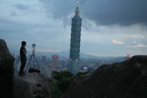 View from Elephant Mt Taipei Taiwan