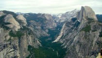 View from Glacier Point Yosemite California