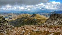 View from Glyder Fach Snowdonia Wales