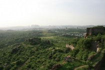 View from Golkonda Fort  Hyderabad India