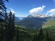 View from Highline trail Glacier National park MT