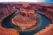 View from Horseshoe Bend AZ earlier this summer