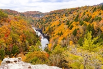 View from Lilly Bluff Overlook Obed Wild and Scenic River Tennessee
