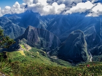 View from Machu Picchu Mountain Peru