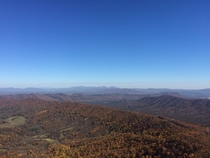 View from McAfees Knob Appalachian Trail Virginia The Peaks of Otter are in the distance