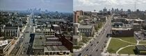 View from Midtown Detroit -  years apart