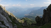 View from Monte Grona on Lake Como in Menaggio Italy