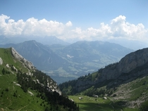 View from Mount Pilatus Switzerland