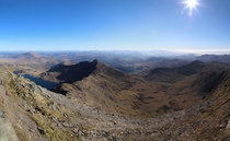 View from Mount Snowdon Summit Wales