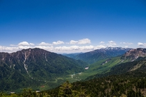 View from Mt Nishi-Hotakadake in the Nothern Japanese Alps
