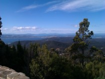 View from Mt Wellington Tasmania