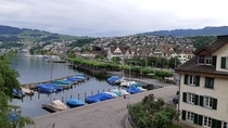 View from my hostel in Richterswil Switzerland