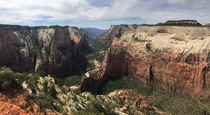 View from Observation Point Zion National Park USA