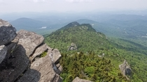 View from part of our Hike on Grandfather Mountain NC this Sunday If you think this looks wild imagine what we thought after dropping acid before the hike Unforgettable  OC