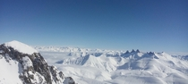 View from Pic Blanc Alpe dHuez France