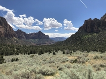 View from Sand Bench Trail in Zion National Park