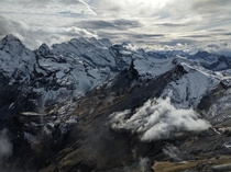 View from Schilthorn - Bernese Oberland Switzerland