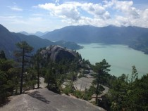 View from second peak of the Squamish chief in British Colombia