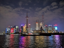 View from Shanghai Bund at night