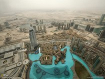 View from th floor of Burj Khalifa Dubai