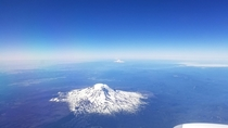 View from the airplane window leaving Seattle today  x