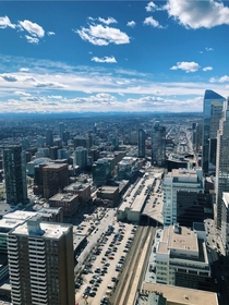 View from the Calgary Tower in Calgary AB