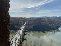 View from the Castel SantAngelo Rome Italy