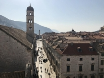 View from the city walls in Dubrovnik Croatia