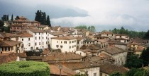 View from the Duomo Barga Italy