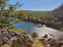 View from the entrance of Nitmulak Gorge in the Northern Territory Australia x