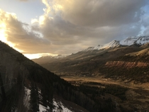View from the gondola coming into Telluride CO