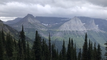 View from the Highline Trail Glacier NP MT