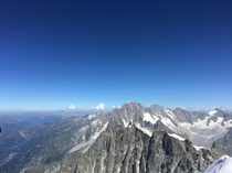 View from the LAiguille du Midi in Chamonix-Mont-Blanc France