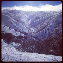 View from the orchard Mt Hotham Australia taken from iPhone