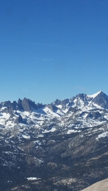 View from the peak of Mammoth Mountain