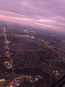 view from the plane this morning flying into philly