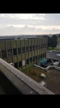 View from the roof of the abandoned Waterford Crystal Factory and visitor centrea company famous worldwide WaterfordIreland